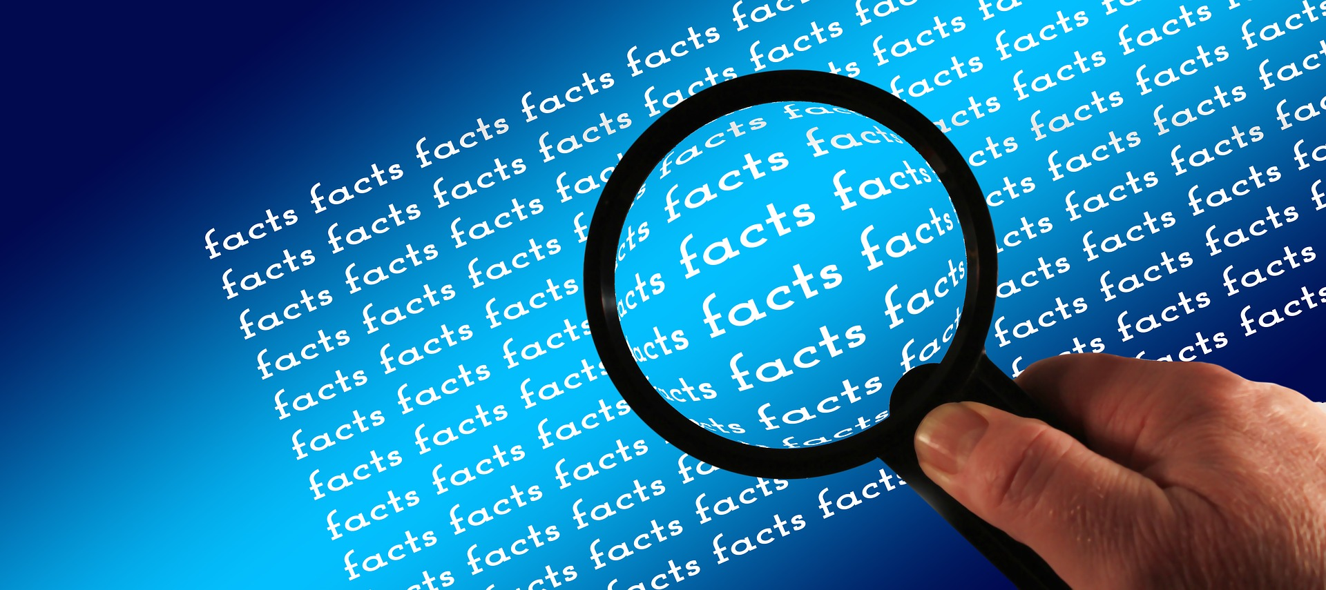 magnifying glass on facts