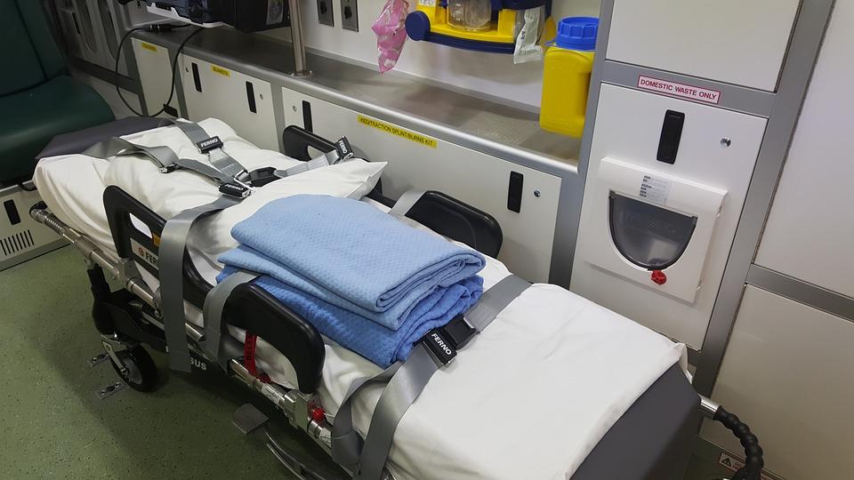 inside of an ambulance