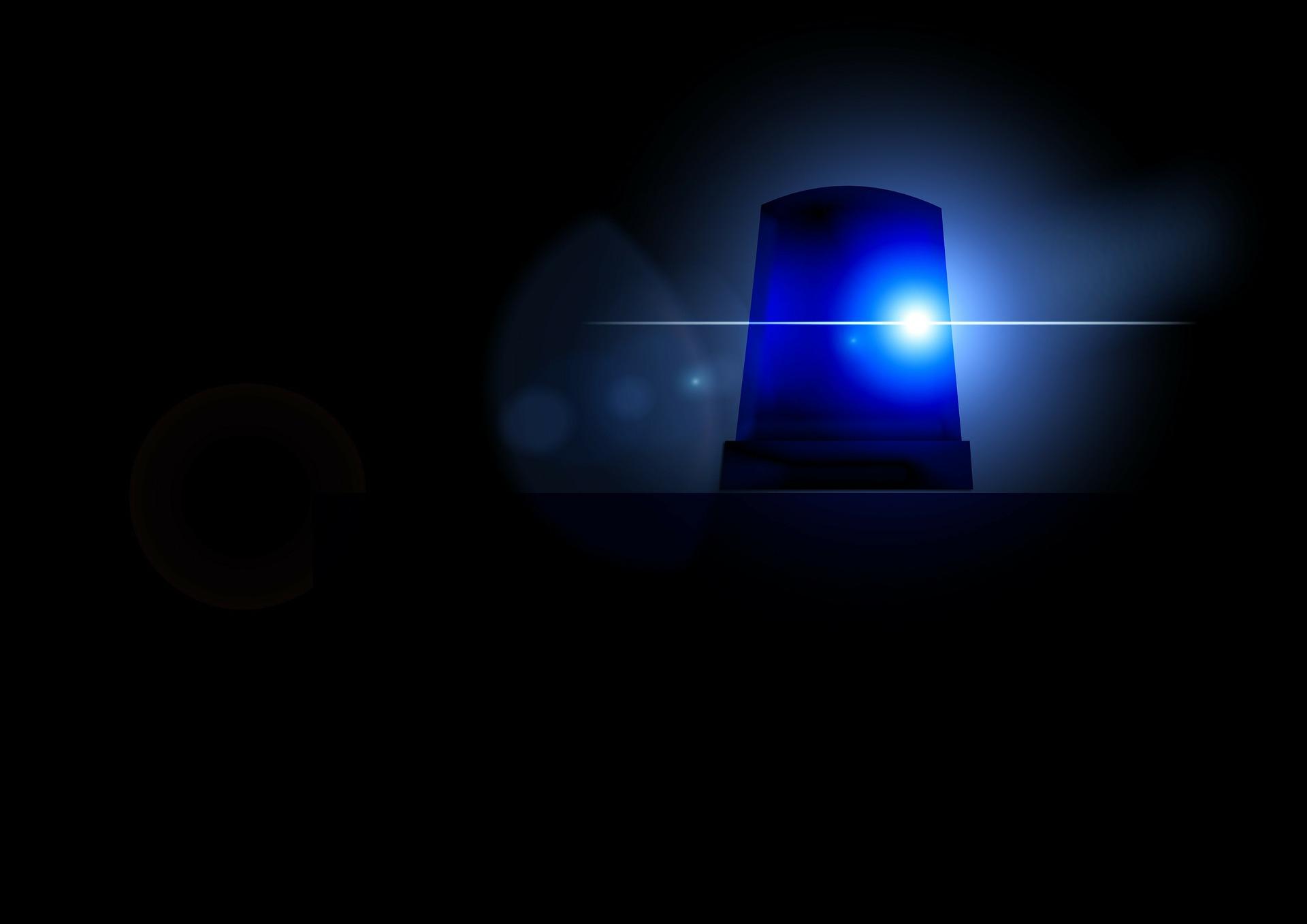 blue light of ambulance