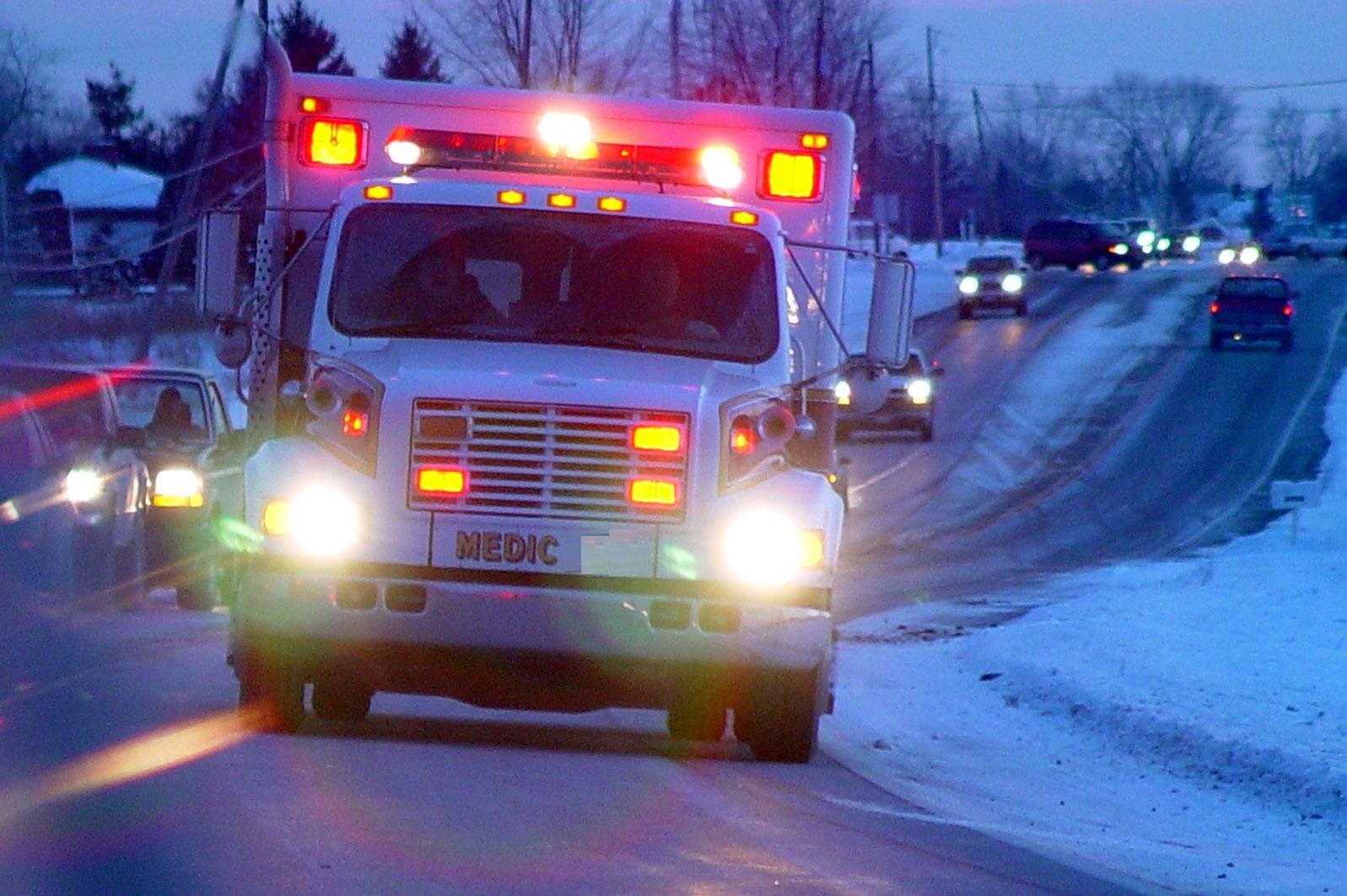 ambulance on road