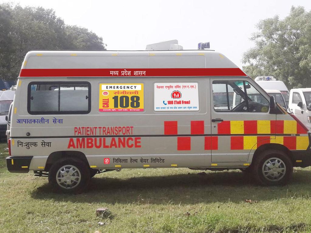 Ziqitza Madhyapradesh Ambulance